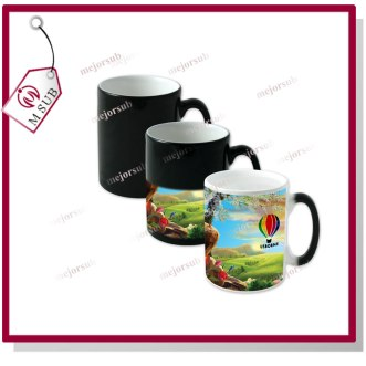 11oz sublimation ceramic thermal mugs color changing